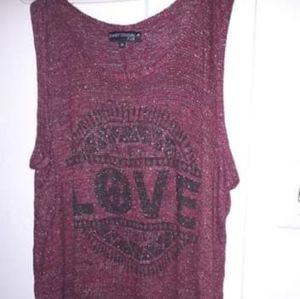 Tops - Sparkly red tank top  size 2x